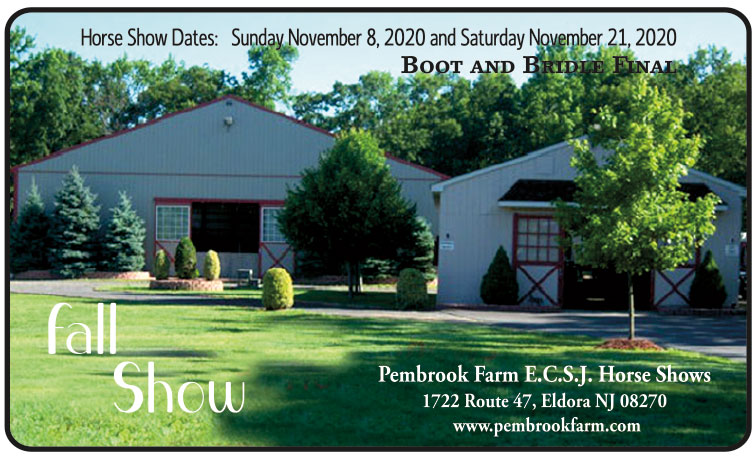 Horse show dates: Sunday November 8 2020 and Saturday November 21 2020 - Boot and bridle final fall show at Pembrook Farm